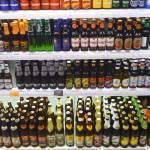 Bier - die untere Reihe fast komplett aus Deutschland