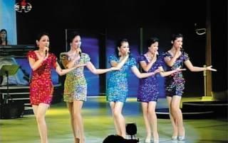 """Die sexy Girls der Moranbong Truppe ermahnen die Jugend in Ihren Songs unter anderem """"für's Land hart zu studieren""""."""