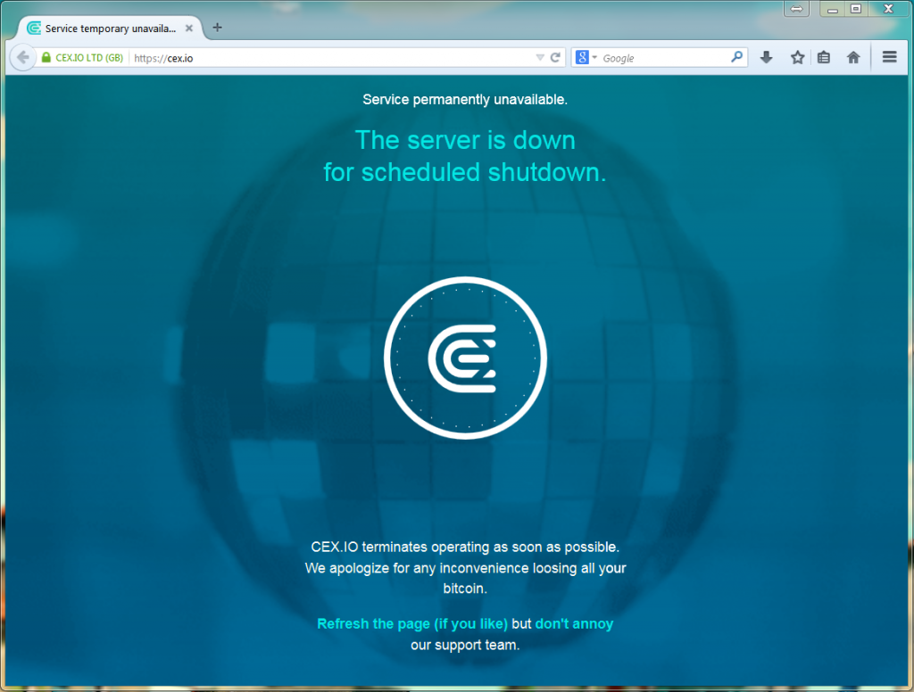 screenshot secret intranet website cex.io