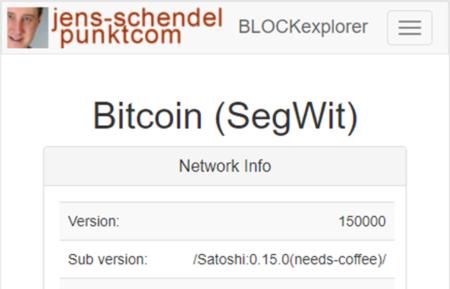 ein einfaches Tool zur Untersuchung von Transaktionen und Block Hashes auf der Blockchain