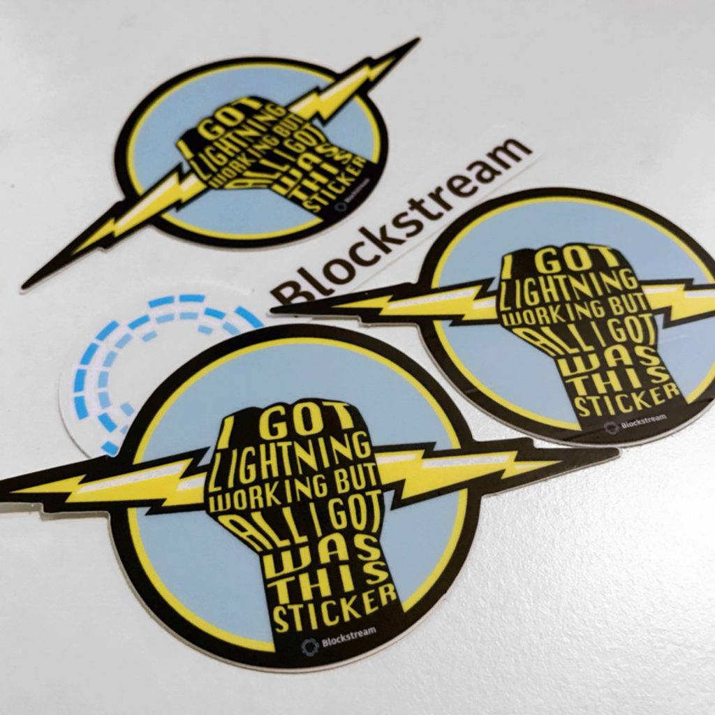 Lightning Network Stickers