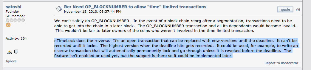 This is Satoshi's description of how the Lightning Network works from 2010